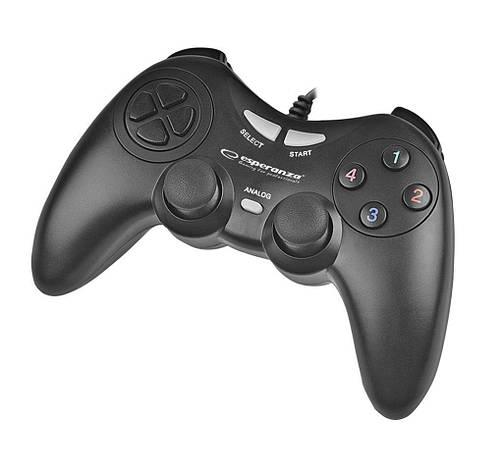 Провідний геймпад Esperanza Fighter PC Black, фото 2