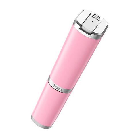 Селфи-монопод Hoco K9 Graceful Mini провідний 3.5 Pink, фото 2