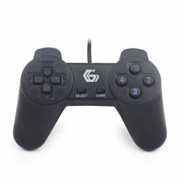 Проводной геймпад GEMBIRD JPD-UB-01 black