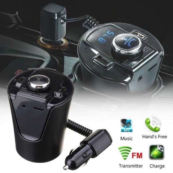 Автомобільний FM модулятор трансмітер HZ H26BT - гучний зв'язок Bluetooth + AUX