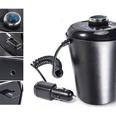 Автомобільний FM модулятор трансмітер HZ H26BT - гучний зв'язок Bluetooth + AUX, фото 2