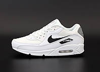 Кроссовки белые мужские кожаные летние Nike Air Max 90 Найк Аир Макс 90