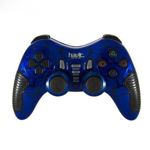 Безпровідний геймпад HAVIT HV-G89W USB+PS2+PS3 Blue