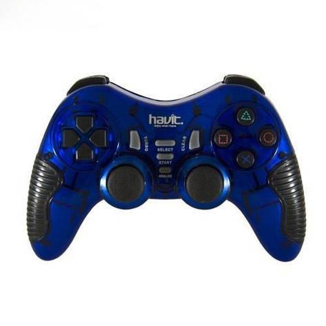Безпровідний геймпад HAVIT HV-G89W USB+PS2+PS3 Blue, фото 2