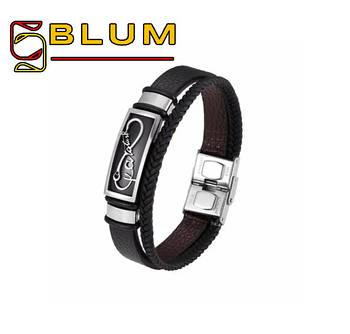 Шкіряний браслет 20 см срібний BLUM (Forever Infinity)