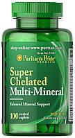 Витамины и минералы Puritan's Pride Super Chelated Multi Mineral (100 капс)