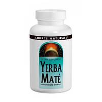 Парагвайський Чай Мате Source Naturals Yerba Mate 600 мг (90 таблеток)
