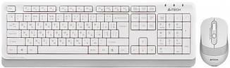 Клавіатура і миша A4Tech FG1010 бездротові White/Grey, фото 2