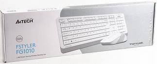 Клавіатура і миша A4Tech FG1010 бездротові White/Grey, фото 3