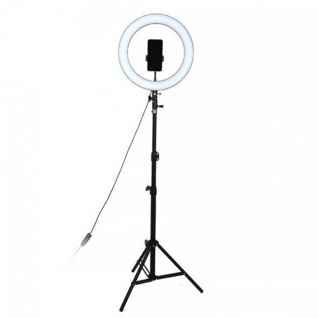 Кільцева лампа LED UTM зі штативом і регулюванням світла RL 18