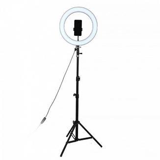 Кільцева лампа LED UTM зі штативом і регулюванням світла RL 18, фото 2
