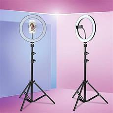 Кільцева лампа LED UTM зі штативом і регулюванням світла RL 18, фото 3
