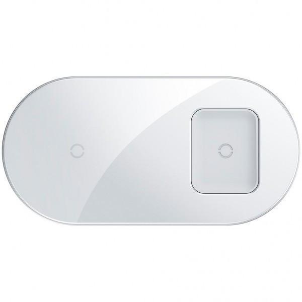 Бездротове зарядний пристрій Baseus Simple 2in1 (WXJK-02) White (Phone + Pods)