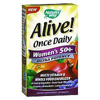 Вітаміни для жінок nature's Way Once Daily women's 50 + MultiVitamin (60 таб)
