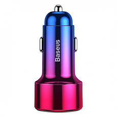 Автомобильное зарядное устройство Baseus Magic Series Dual Quick Charge Car Charger 45W 2USB Red, фото 2