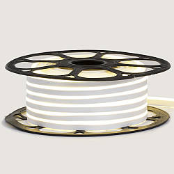 Стрічка неонова біла 12V AVT - smd2835 120LED/m 6Вт/m 6х12мм IP65 силікон 1м