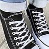 Черные черно белые Кеды мужские конверсы converse летние тканевые текстильные сетка, фото 2
