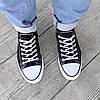 Черные черно белые Кеды мужские конверсы converse летние тканевые текстильные сетка, фото 5