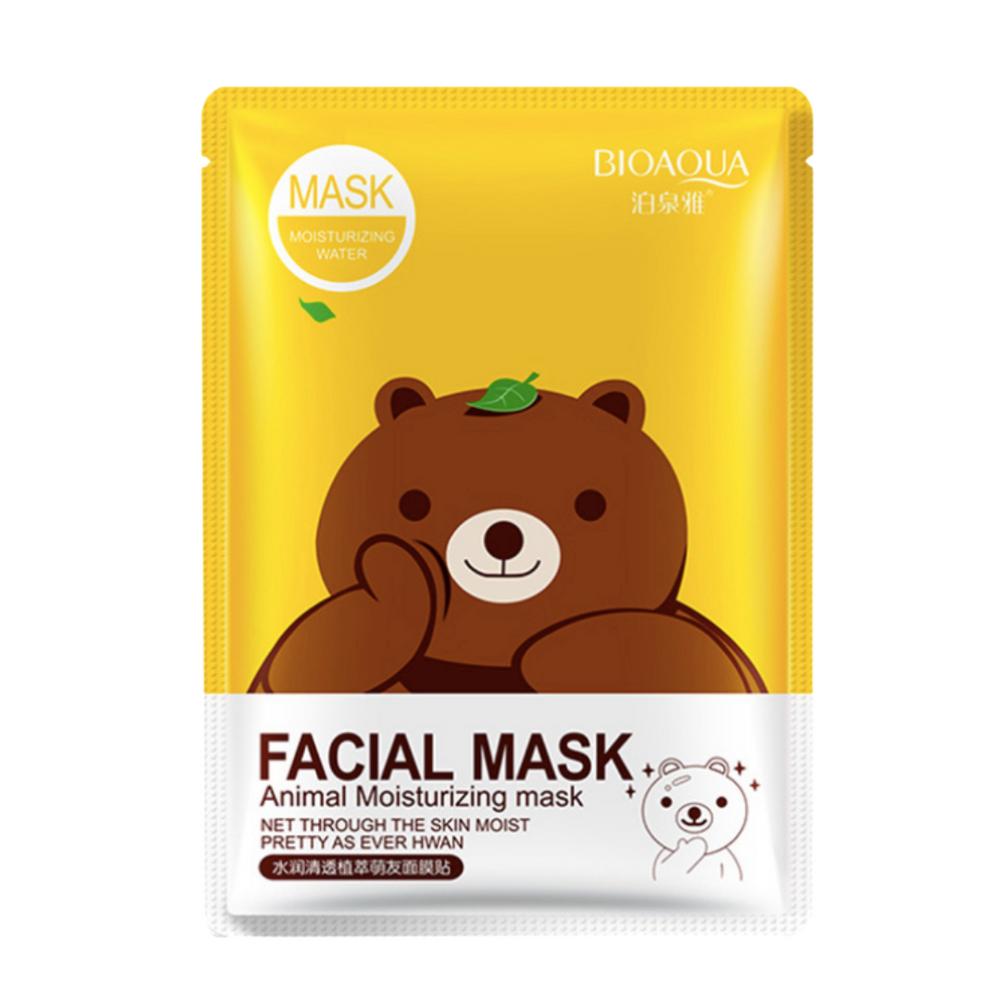 Тканевая маска с эссенцией зеленого чая BIOAQUA Facial Animal Mask 30г