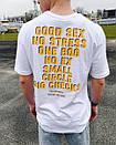 Подовжена біла футболка чоловіча, фото 6