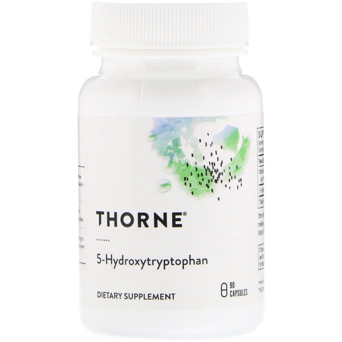 5-HTP (5-Гидрокситриптофан, 5-Hydroxytryptophan) 100 мг, Thorne Research, 90 капсул