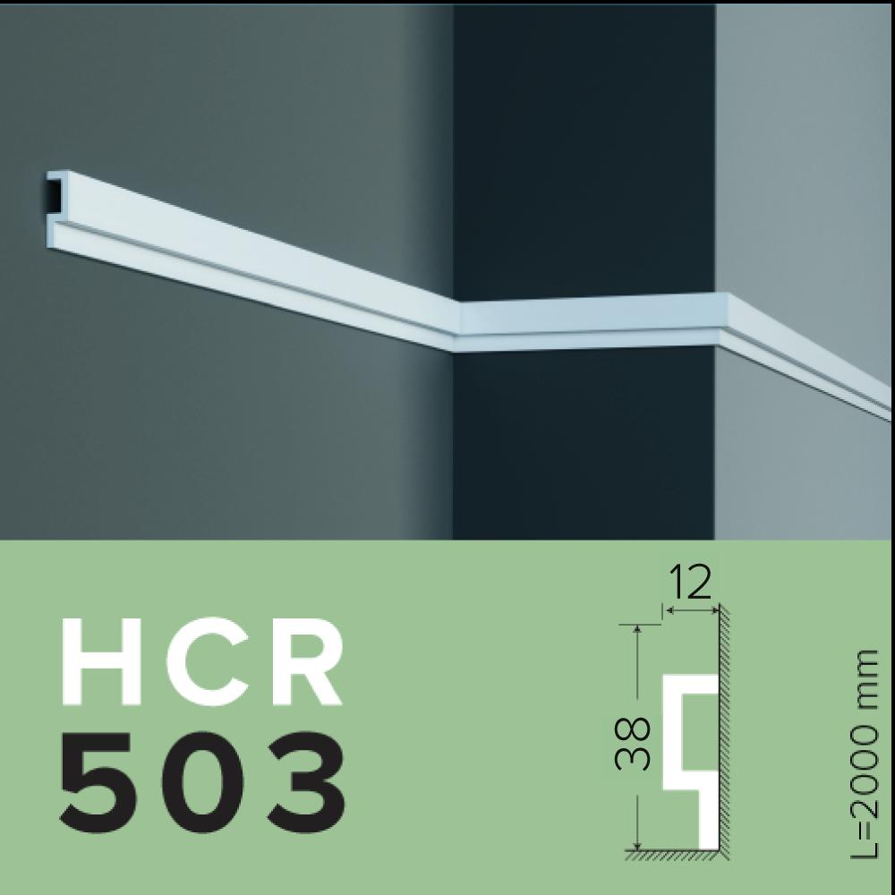 МОЛДИНГ GRAND DECOR HCR 503 полимерный для стен
