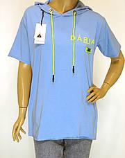 Спортивна чорна жіноча футболка з капюшоном Pakkoo, фото 2