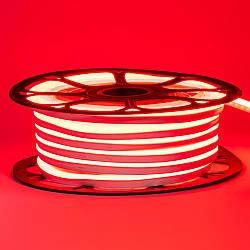 Стрічка неонова червона 12V AVT-smd2835 120LED/m 6В/мт 6х12мм IP65 силікон 1м