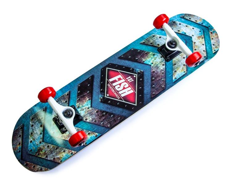 Дерев'яний СкейтБорд від Fish Skateboard First
