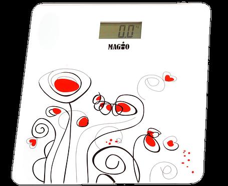 Весы электронные MAGIO MG-300 150 кг. ж/к дисплей (стекло), фото 2