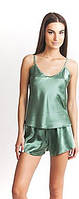 Пижама двойка: маечка и шортики, размер 40 - 50, атлас, для прекрасных женщин в розницу и оптом белье атлас