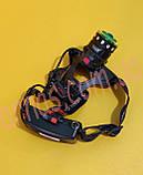Аккумуляторный налобный фонарь BL-T105-T6+COB, фото 2