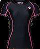 Футболка Gorilla Wear Carlin Compression Short Sleeve Top Black Pink