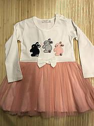 Платье для девочки персиковое