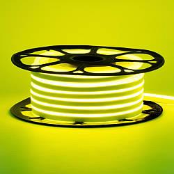 Стрічка неонова лимонна 12V AVT-smd2835 120LED/m 6В/мт 6х12мм IP65 силікон 1м