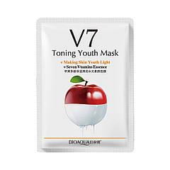 Витаминная маска для лица с экстрактом яблока Bioaqua V7 Toning Youth Mask 30г