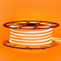 Стрічка неонова помаранчева 12V AVT-smd2835 120LED/m 6В/мт 6х12мм IP65 силікон 1м