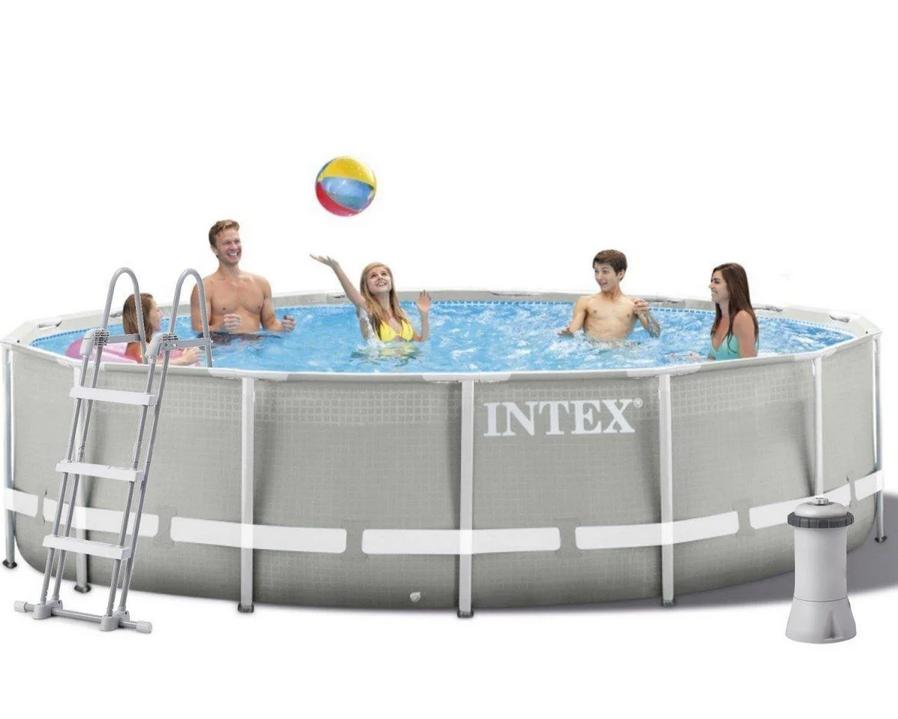 Каркасний басейн Intex 457 x 122 см (26726) насос фільтр сходи підстилка тент
