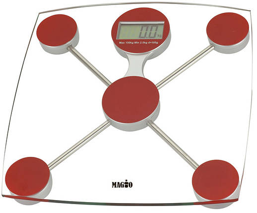 Весы электронные MAGIO MG-301 150 кг. ж/к дисплей (стекло), фото 2