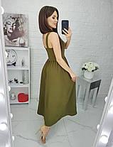 Сарафан в пол на пуговицах в расцветках 392096, фото 3