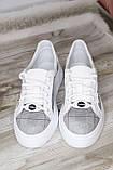 Стильные женские белые мокасины-туфли из натуральной кожи. Размеры 36-41, фото 6