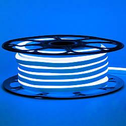 Стрічка неонова синя 12V AVT-smd2835 120LED/m 6В/мт 6х12мм IP65 силікон 1м