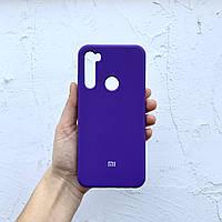 Чехол на Xiaomi Redmi Note 8T Full Silicone Case фиолетовый силиконовый / для сяоми редми нот 8Т ксяоми ноут