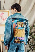 Джинсовая куртка Staff west hand made c3 синий PKY0280