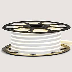 Стрічка неонова біла 12V smd2835 120лед 6Вт 8*16 PVC герметична 1м