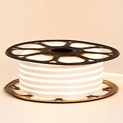 Стрічка неонова біла тепла 12V smd2835 120лед 6Вт 8*16 PVC герметична 1м