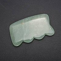 Массажер-скребок ГуаШа из натурального камня Нефрит 5х9см купить оптом в интернет магазине