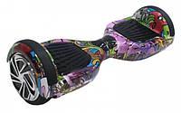 Гироскутер Smart Balance 6.5 дюймів Фіолетовий хіп хоп (сумка, колонка, підсвічування, самобаланс)