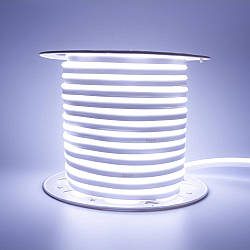 Стрічка неонова біла холодна AVT 220V smd2835 120лед 7Вт герметична 1м