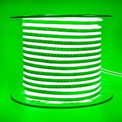Стрічка неонова зелена AVT 220V smd2835 120лед 7Вт герметична 1м